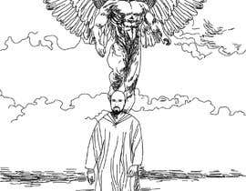 #15 for Illustrate a Book Cover with original art (man, a prophet, walking on beach with angel) af berragzakariae
