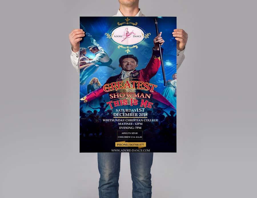 Konkurrenceindlæg #14 for The Greatest Showman Poster