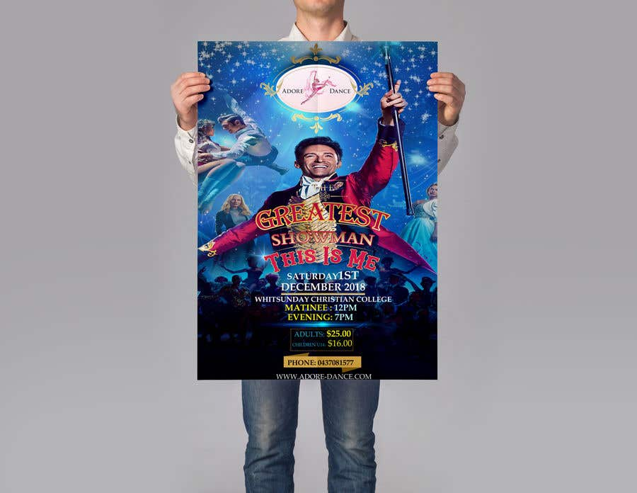 Konkurrenceindlæg #15 for The Greatest Showman Poster