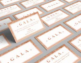 nº 34 pour I need some graphic design. For business card and price tag , my company name is GALA , color: rose gold & off white. par angelacini