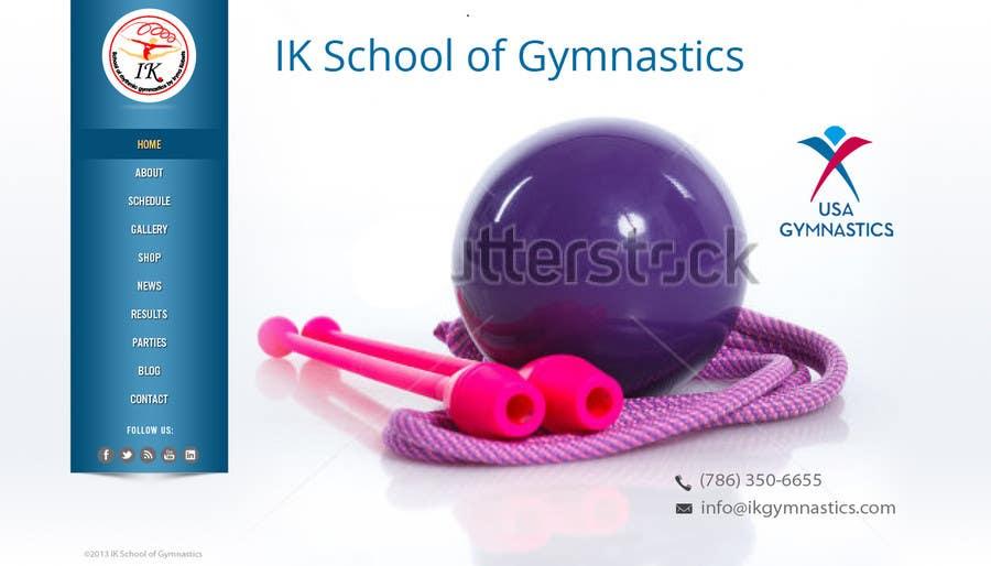 #25 for Website Design for ik gymnastics LLC by datagrabbers