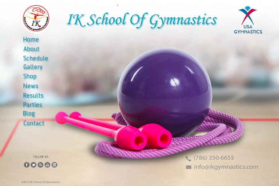 #44 for Website Design for ik gymnastics LLC by datagrabbers
