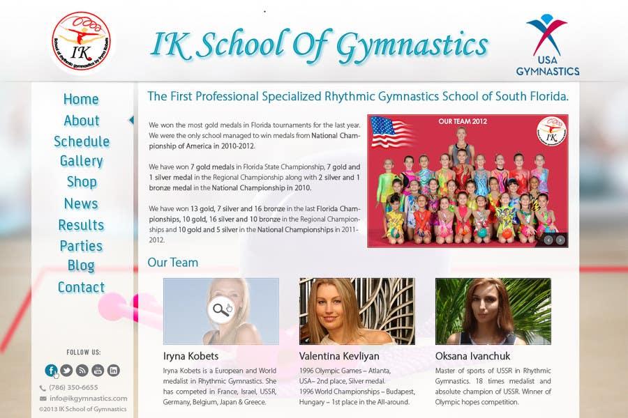 #61 for Website Design for ik gymnastics LLC by datagrabbers