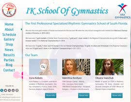 nº 64 pour Website Design for ik gymnastics LLC par datagrabbers