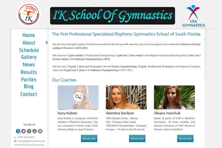 #73 for Website Design for ik gymnastics LLC by datagrabbers