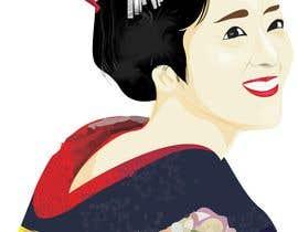 #15 untuk Improve and finish Geisha design for T shirt oleh Pandred