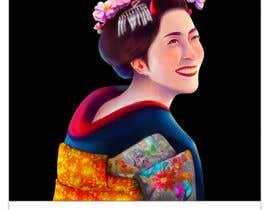 #19 untuk Improve and finish Geisha design for T shirt oleh felixhadi