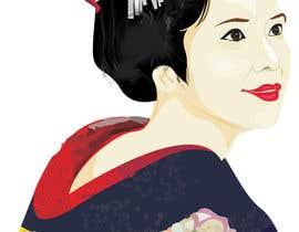 #10 untuk Improve and finish Geisha design for T shirt oleh letindorko2