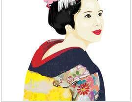 #12 untuk Improve and finish Geisha design for T shirt oleh letindorko2