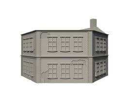 Nambari 14 ya 3D Model Miniature WW2 Building Hexagon na Ab13Abraham