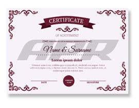 Nro 2 kilpailuun Certificate design - authenticity käyttäjältä Nightwishman
