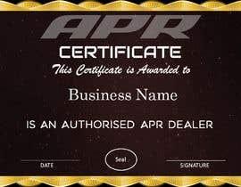 Nro 17 kilpailuun Certificate design - authenticity käyttäjältä AkS0409