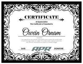Nro 28 kilpailuun Certificate design - authenticity käyttäjältä NazMalik004