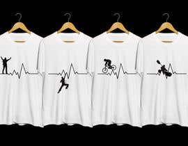 #14 for T-shirt design with heartbeat theme by Attebasile