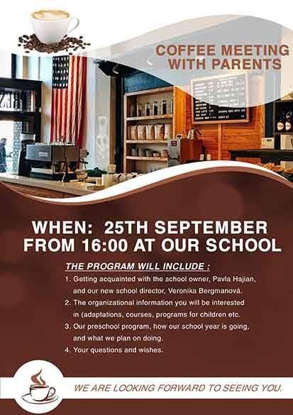 Конкурсная заявка №12 для Create a coffee invitation for preschool parents