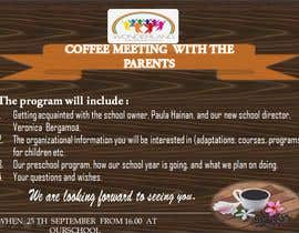 #19 для Create a coffee invitation for preschool parents от AMALAARUN143