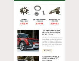 #24 for Email template design for online auto parts store. af AdoptGraphic