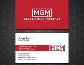 #76 for Design a business card for MGM Elektrotechnik GmbH af papri802030