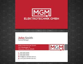 #77 for Design a business card for MGM Elektrotechnik GmbH af papri802030
