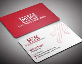 #111 for Design a business card for MGM Elektrotechnik GmbH af dasshilatuni
