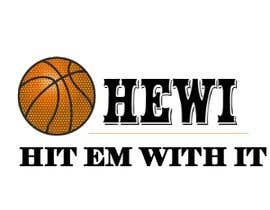 #19 untuk Would like logo to incorporate something with basketball in it. The name I would like to have with it is Hit Em Wit It and HEWI. I have attached an older logo with the name that I would like to have with the logo. oleh tariqnahid852