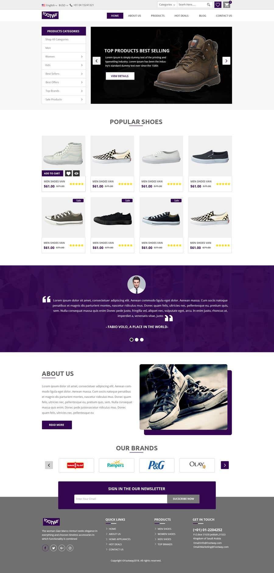 Entry #3 by Baljeetsingh8551 for Web UI design of User