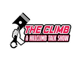 """#4 for The show is called """"The Climb"""" A Hillclimb Talk Show"""". —— the climb on top line— hillclimb talk show on the bottom —- back ground a motorcycle tire af vectordesign99"""