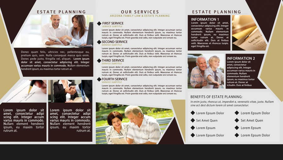 Entry  By Andryf For Design A Brochure For Estate Planning Law