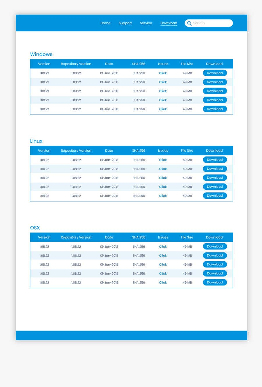 Kilpailutyö #17 kilpailussa Design a File Download page (Template) that matches our theme