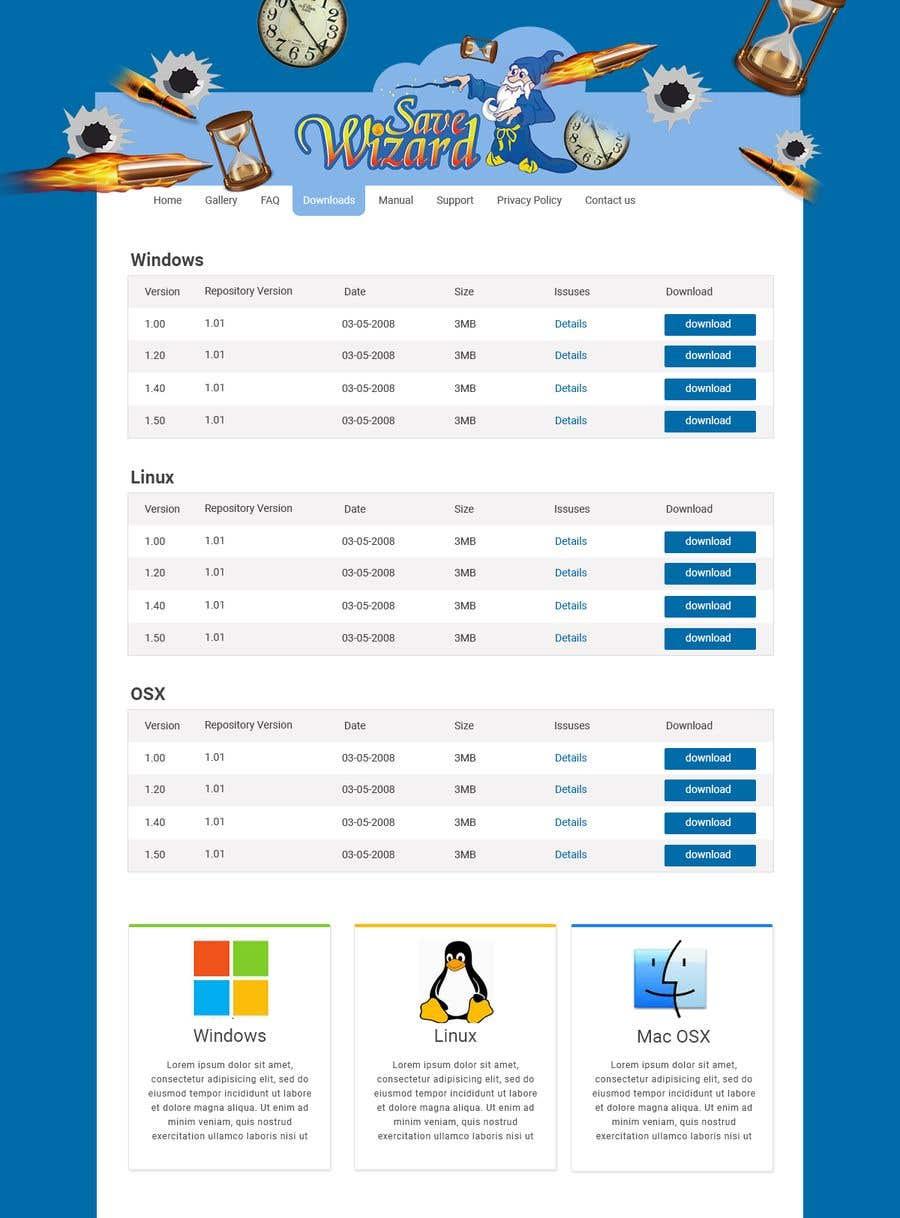 Kilpailutyö #14 kilpailussa Design a File Download page (Template) that matches our theme