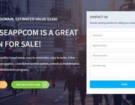 """Nro 50 kilpailuun Build a creative, single page """"Domain for sale"""" HTML Template käyttäjältä tanvirtajcoder"""