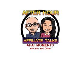 """Nro 16 kilpailuun Logo for """"Late Night Affiliate Talks with Kim & Oscar"""" Podcast käyttäjältä mileskagomez"""