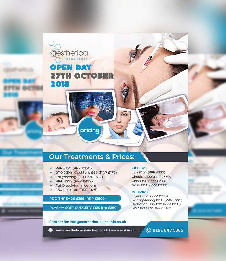 Entry #31 by nayangazi987 for Skin Clinic Open Day Poster and Banner