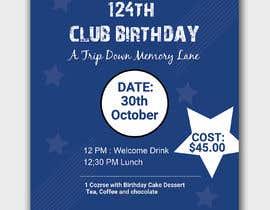 #32 for Design a Club Birthday flyer by piashm3085