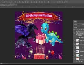 #12 para Photoshop job for birthday invitation de pixelbd24