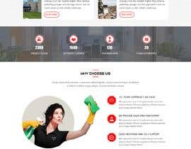 #9 для Design a One Page Website for a cleaning Company Service от webidea12