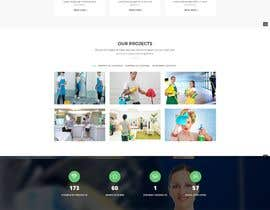 #17 для Design a One Page Website for a cleaning Company Service от Kawsarahmed1996