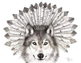 #31 for 1 Wolf & 1 wing Tattoo Design af luismoncada1082
