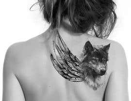 #21 for 1 Wolf & 1 wing Tattoo Design af hossaingpix