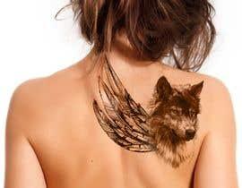 #22 for 1 Wolf & 1 wing Tattoo Design af hossaingpix