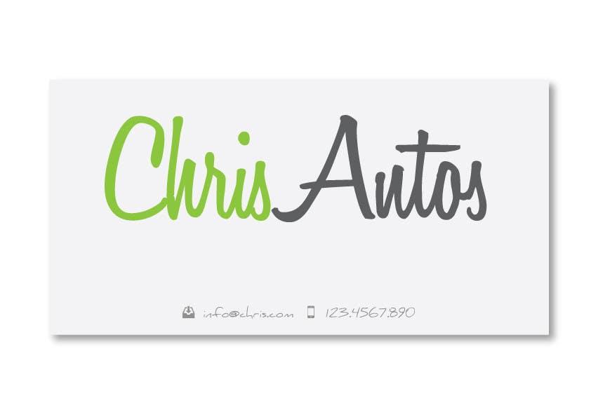Конкурсная заявка №69 для Logo Design for Chris/Chris Antos/Christopher