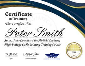 #29 for Please make this certificate more professional and editable by TOPlevelDesigner