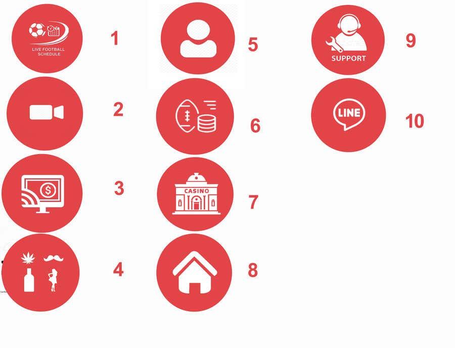 Penyertaan Peraduan #4 untuk 10 circle small icon for android application