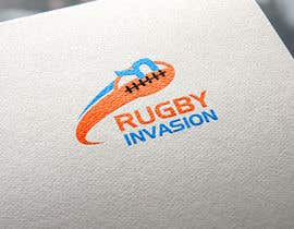 #47 for I need a logo designed for a Rugby news website.  Website name - Rugby Invasion  Logo Ideally consist of RI (higher or lowercase) Rugby Invasion  Ruby ball or the shape Rugby posts  Looking for vibrant colours by MRawnik