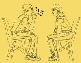 #16 for Illustration 2 people in chairs who sing by felixhadi