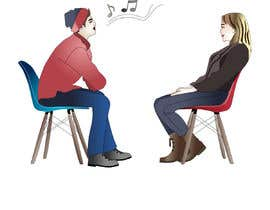 #9 per Illustration 2 people in chairs who sing da letindorko2