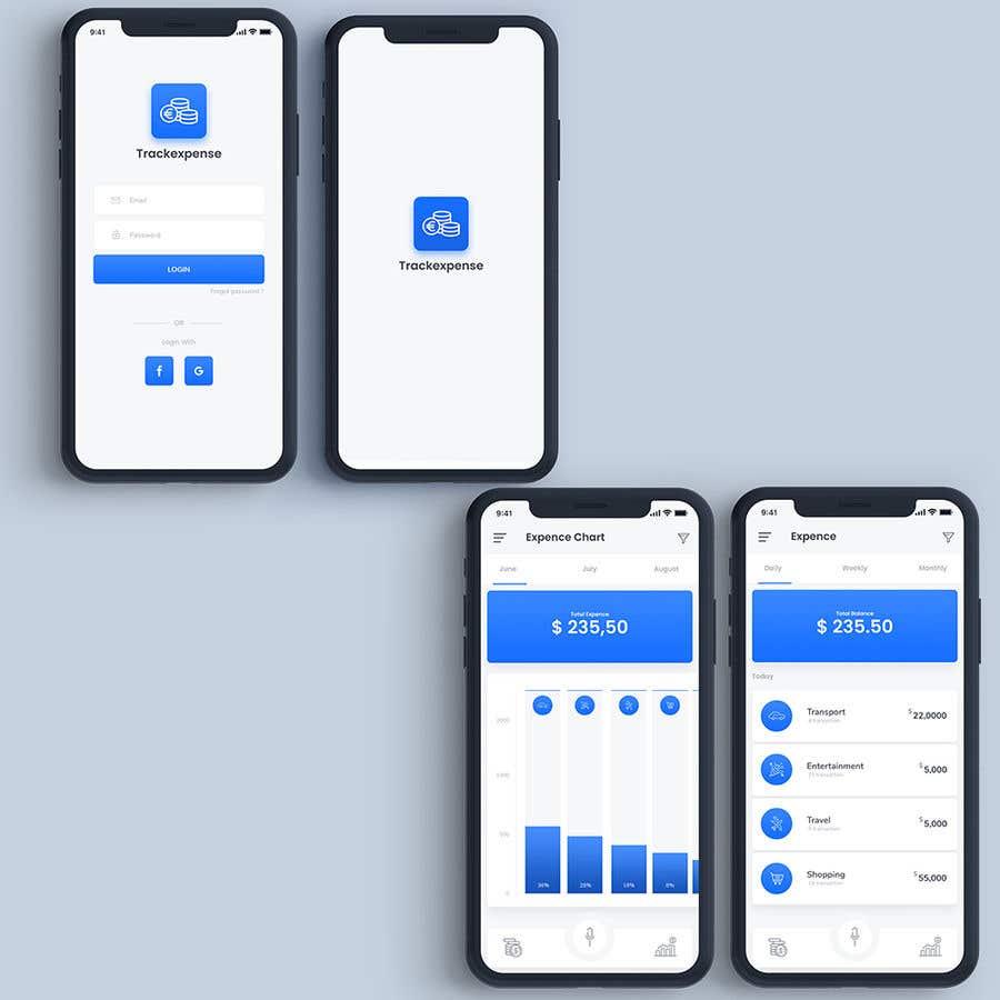 Penyertaan Peraduan #6 untuk Design an App Mockup for Expense Tracker App