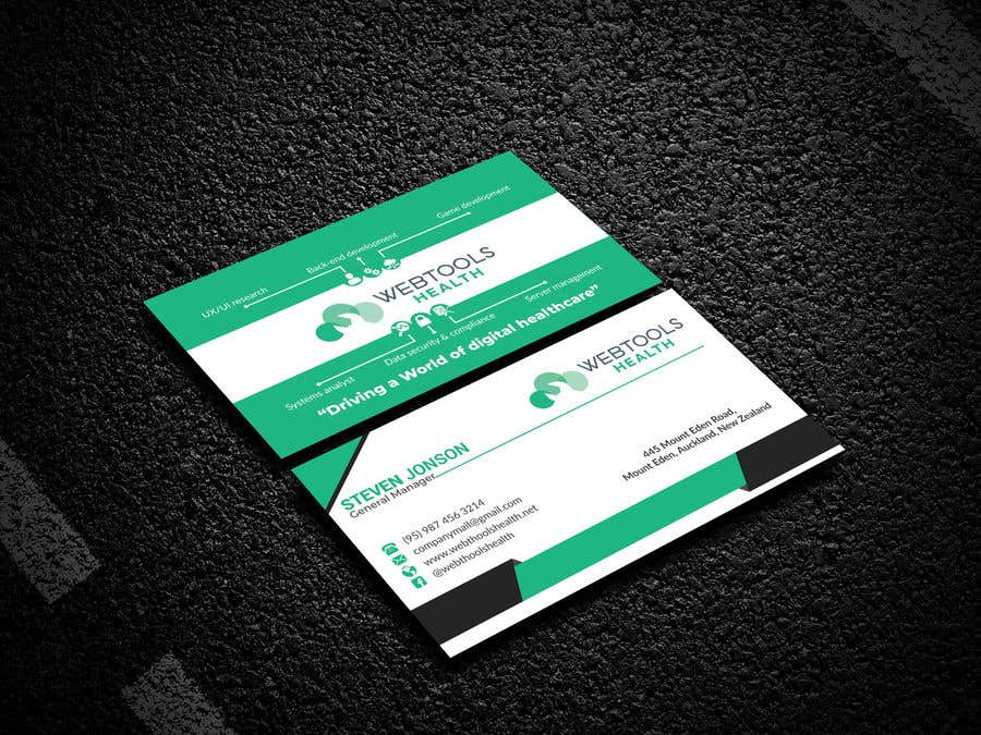 Contest Entry #944 for Business Card Design - Webtools Health