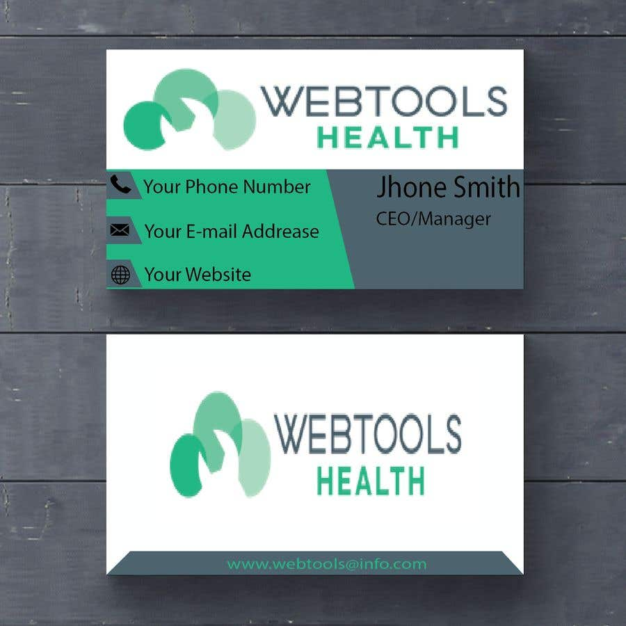 Contest Entry #791 for Business Card Design - Webtools Health