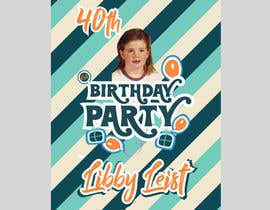 #42 para Design a Logo for 40th Birthday Party - 70s Theme por SHILPIsign
